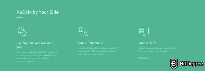 KuCoin VS Binance: KuCoin ved din side.